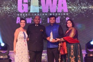 Receiving Best Mehendi Award from GIWA